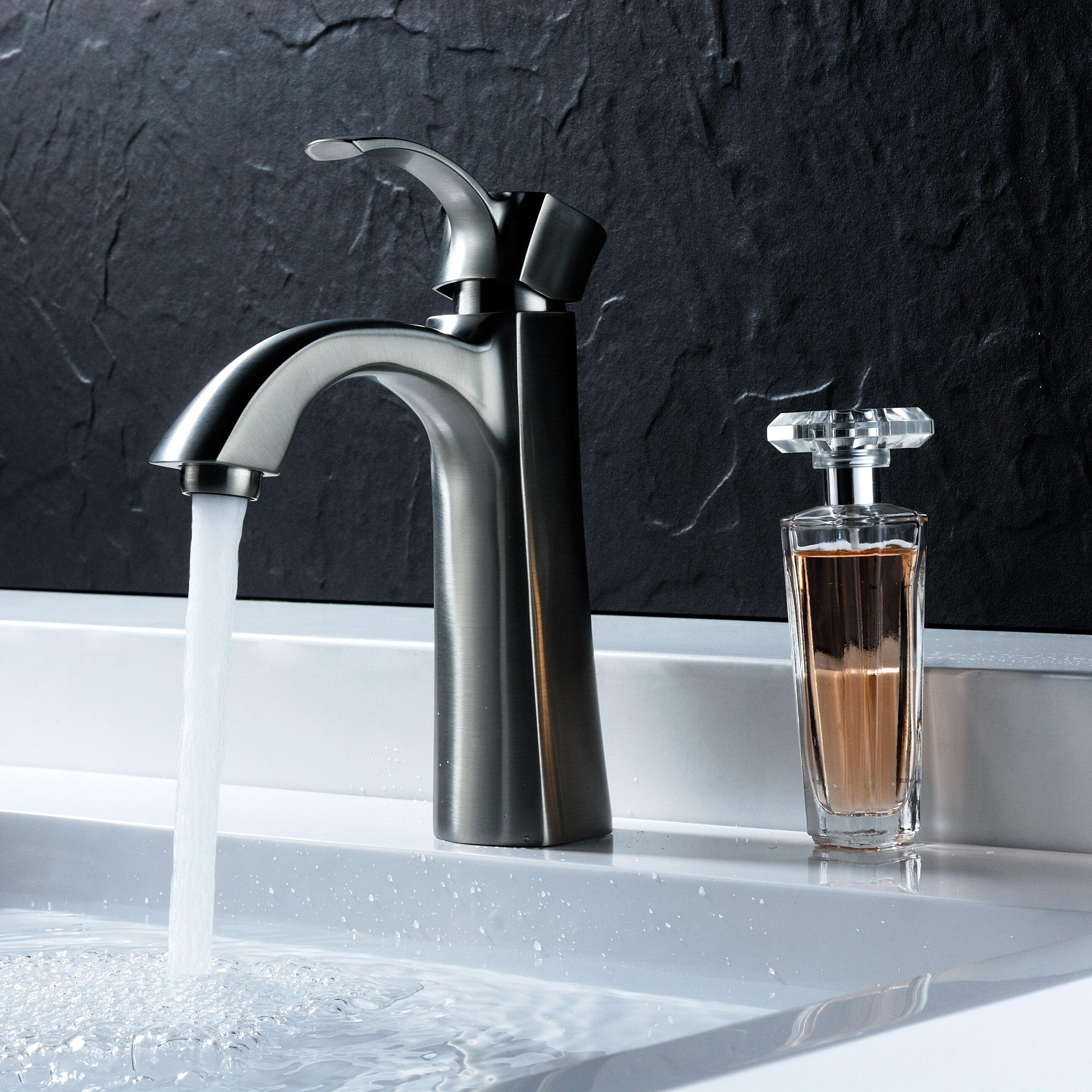 ANZZI Rhythm Single Hole Bathroom Faucet with Drain Assembly | Wayfair