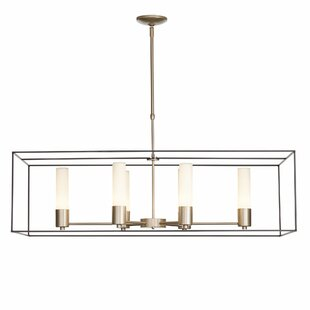 Hubbardton Forge New Traditional Portico 6-Light Square/Rectangle Pendant