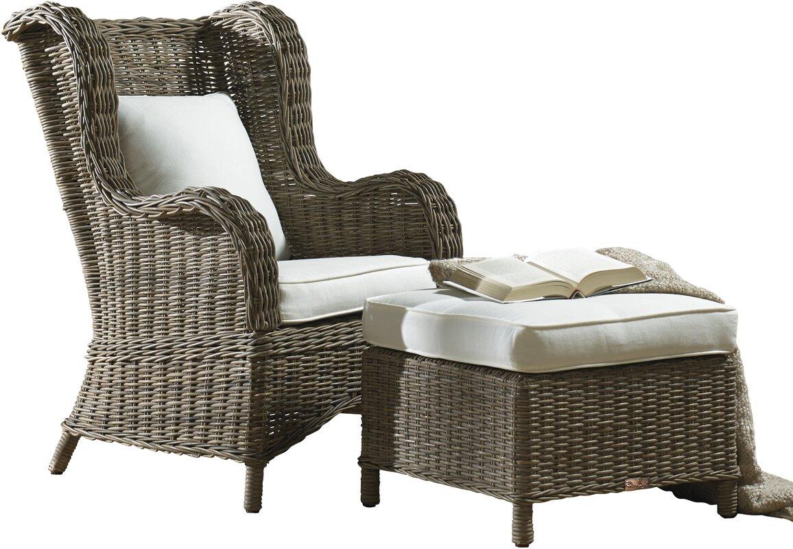 Exuma Wingback Chair and Ottoman