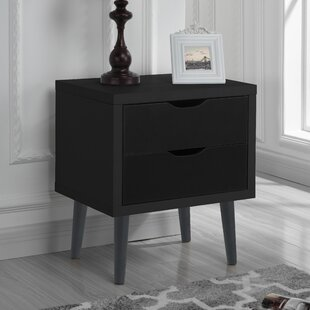 George Oliver Waltrip Modern 2 Drawer Nightstand