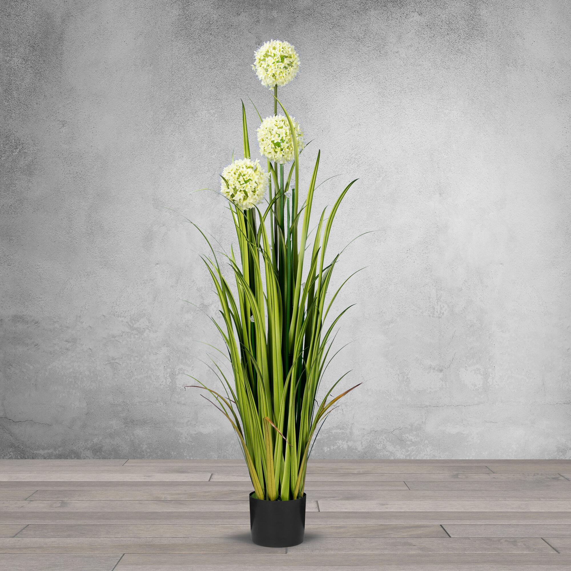 Latitude Run Artificial Reed Flowering Plant In Pot Wayfair