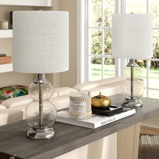 Knouse Glass 21\  Table L& (Set of 2) & Lamp Sets You\u0027ll Love | Wayfair