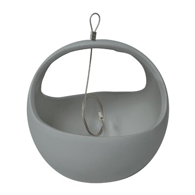 Urban Gardening Ceramic Hanging Planter Arcadia Garden Products Color: Light Grey