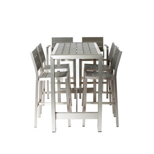 Breeze 7 Piece Bar Height Dining Set
