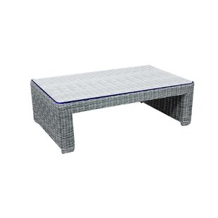 Norman Outdoor Rectangular Wicker Coffee Table