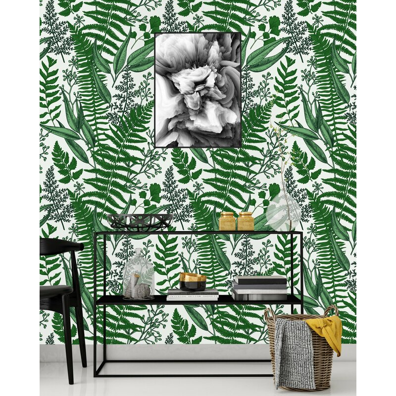 Bay Isle Home Tadcaster Ferns 120 L X 25 W Peel And Stick Wallpaper Panel Wayfair