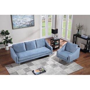 Flory 2 Piece Velvet Living Room Set by George Oliver