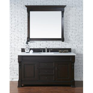 Bedrock 60 Single Antique Black Bathroom Vanity Set by Darby Home Co