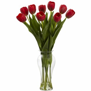 Tulips with Vase