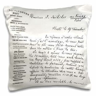 French Script Art Pillow Cover