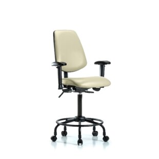 Affordable Price Natasha Round Tube Base Ergonomic Office Chair by Symple Stuff