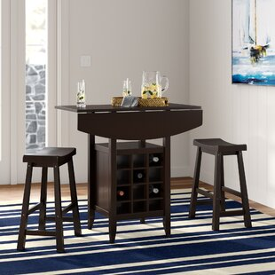 Elida 3 Piece Adjustable Pub Table Set Latitude Run