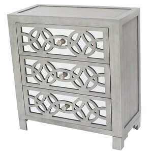 Superb Irvin 3 Drawer Mirror Chest