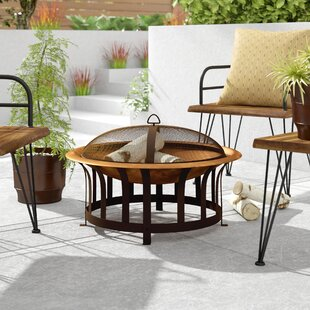 Arteaga Copper  Wood Buning Fire Pit By Williston Forge