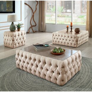 Compare Annabel 3 Piece Coffee Table Set ByAndrew Home Studio