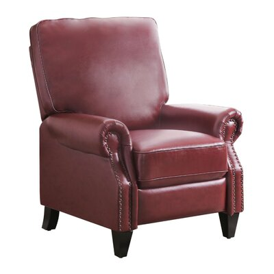 Chenault Manual Recliner Upholstery Color: Red by Darby Home Co