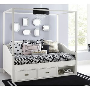Jereme Canopy Daybed with Storage Unit by Harriet Bee