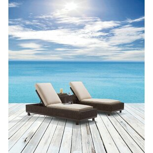 Asphodèle Outdoor Wicker Reclining Chaise Lounge with Cushion