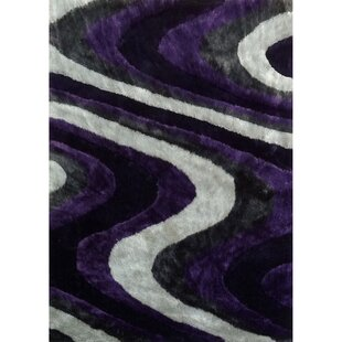 Reviews Living Shag Purple/Gray Rug By Rug Factory Plus