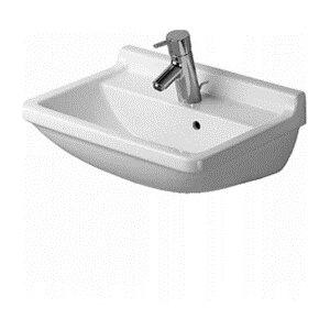 Starck 3 22 Wall Mount Bathroom Sink with Overflow Duravit