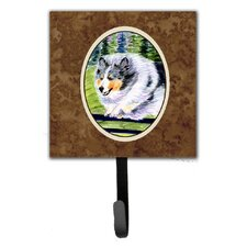 Sheltie Leash Holder and Wall Hook by Caroline's Treasures