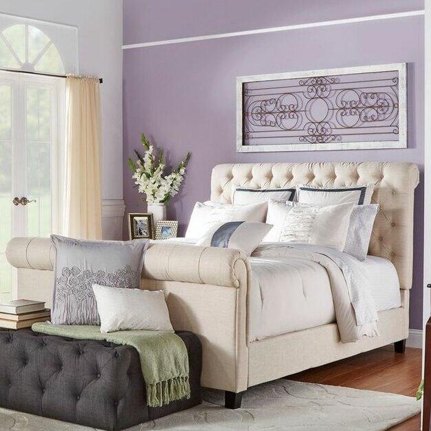 defaultname lark manor melyna upholstered sleigh bed u0026 reviews wayfair