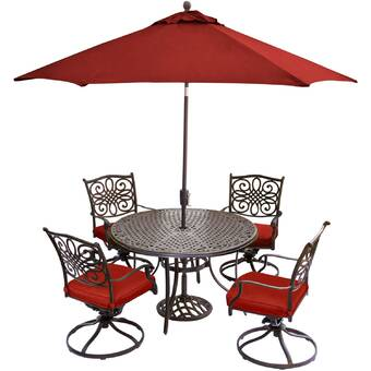 Canora Grey Robicheaux 5 Piece Dining Set With Cushions Wayfair
