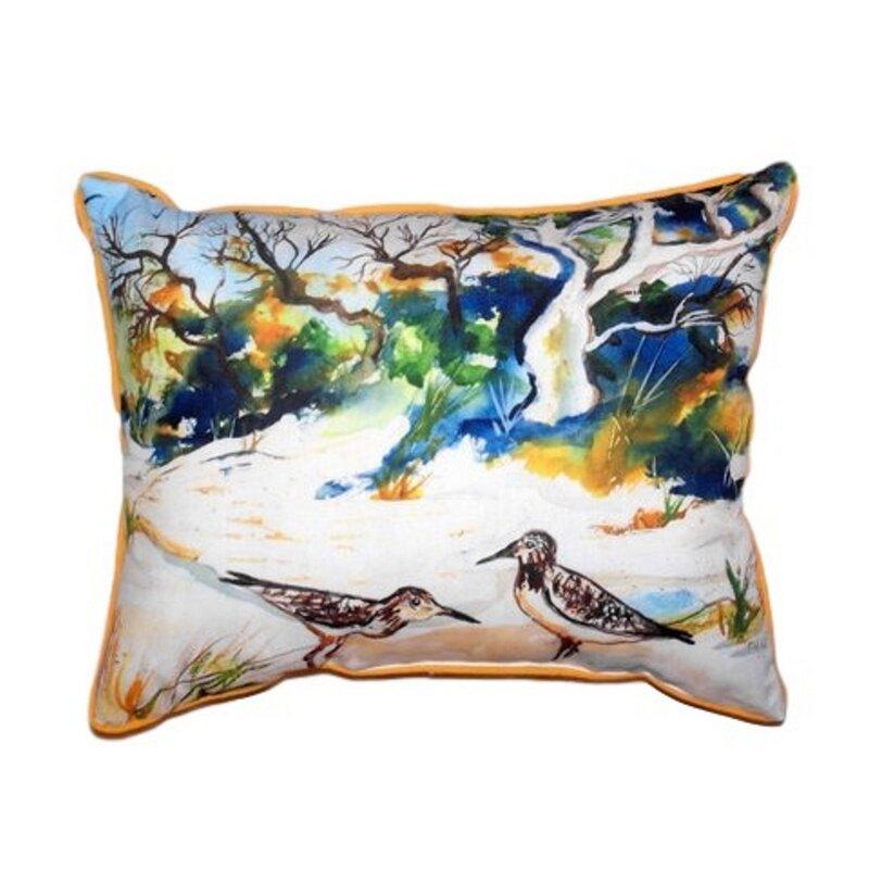 Betsy Drake Interiors Tree Beach Indoor Outdoor Lumbar Pillow Wayfair