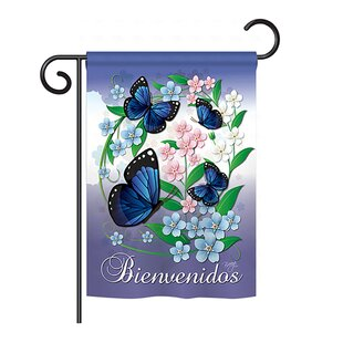Mariposas Celestes 2-Sided Vertical Flag by Breeze Decor