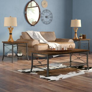 Review Jackeline 3 Piece Coffee Table Set by Mistana
