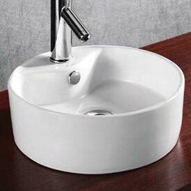Ceramic Circular Vessel Bathroom Sink ByElanti