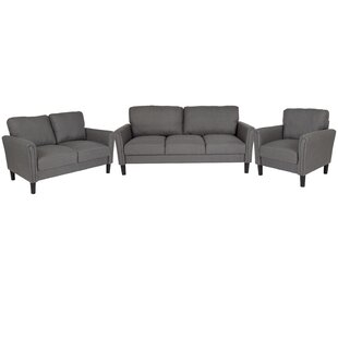 Purchase Laila Upholstered 3 Piece Living Room Set by Wrought Studio Reviews (2019) & Buyer's Guide