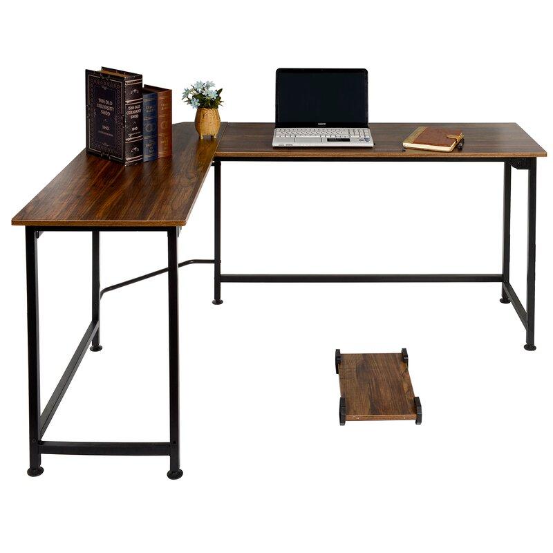 Wrought Studio  Ari L-Shaped Computer Desk