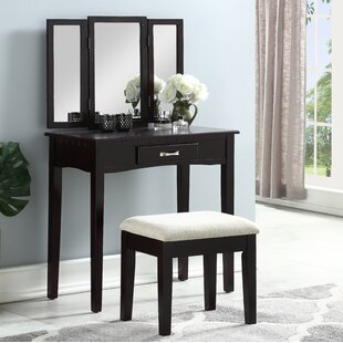 Find Atchison Vanity Set with Mirror By Charlton Home