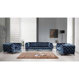 Everly Quinn Azu 3 Piece Living Room Set