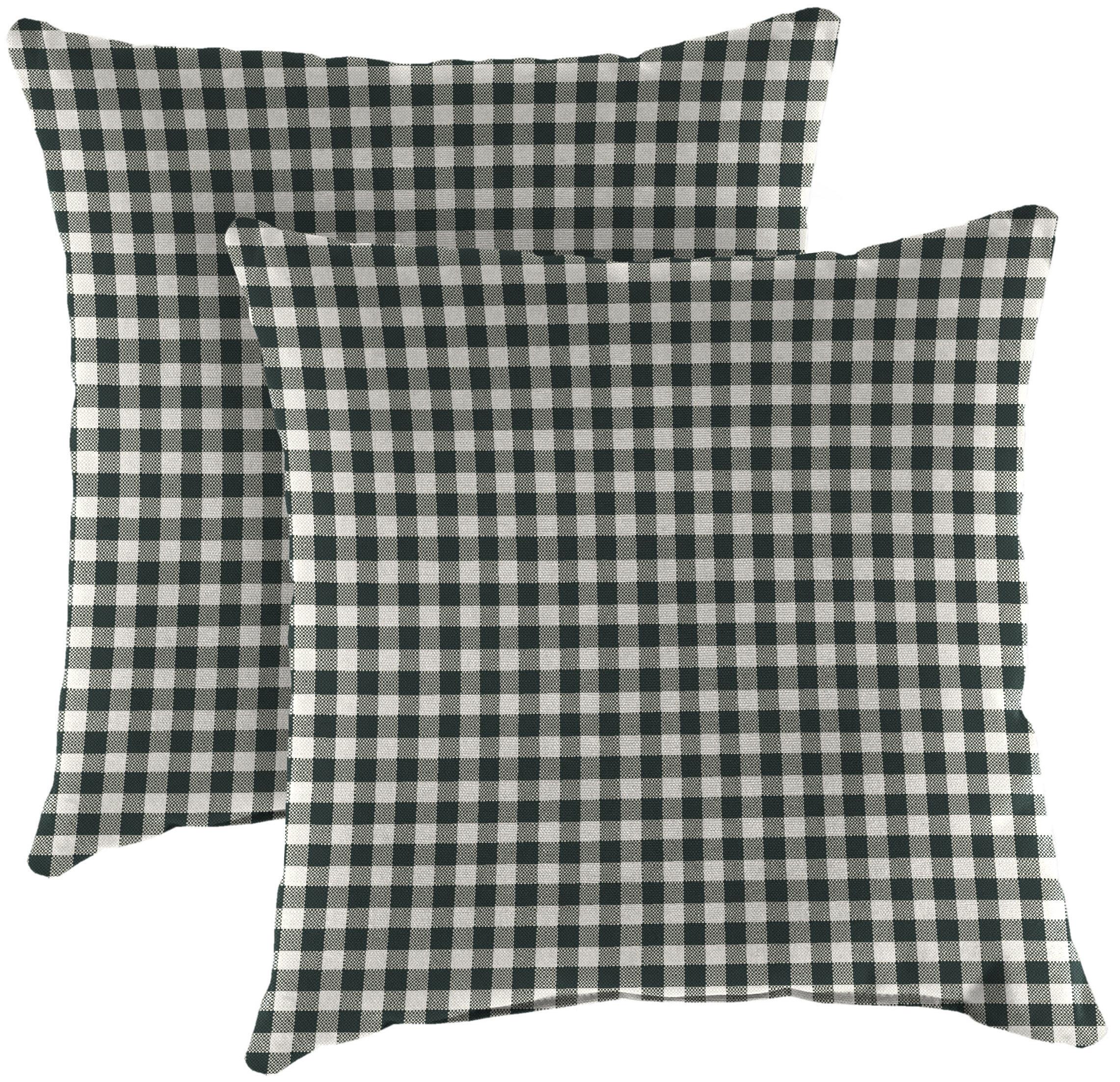 Rosalind Wheeler Washburn Indoor Outdoor Checkered Throw Pillow Wayfair