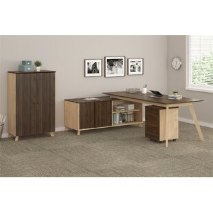 Find Barbosa Executive 3 Piece L-Shape Desk Office Suite By Ivy Bronx