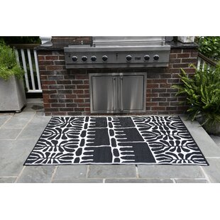 Seeley Black Indoor/Outdoor Area Rug