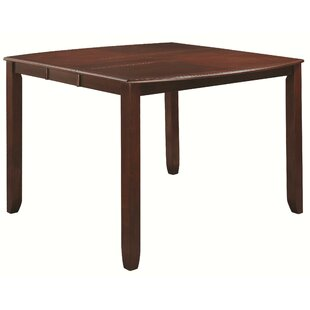 Quach Casual Counter Height Extendable Solid Wood Dining Table