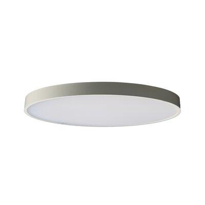 "Anchor 1 - Light Statement Circle LED Flush Mount Orren Ellis Fixture Finish: White, Size: 0.77"""" H x 6.7"""" W x 6.7"""" D -  AFBD360E5C134023A28B234F0AEA0459"