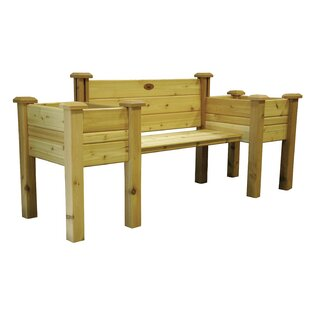 Novelty Wood Planter Bench