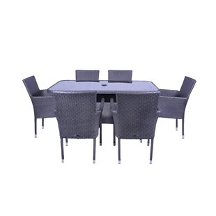 Marylyn 6 Seater Dining Set With Cushions By Sol 72 Outdoor