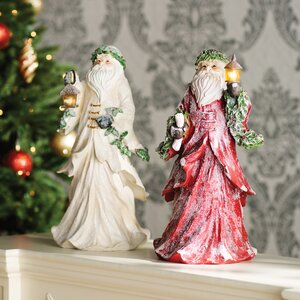 Light Up Holiday Traditions Santa Figurine (Set of 2)