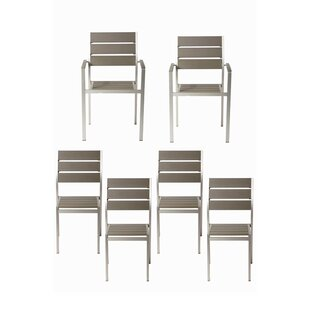 Carrell Stacking Patio Dining Chair (Set of 6)