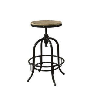 Julianna Metal Adjustable Height Swivel Bar Stool by 17 Stories