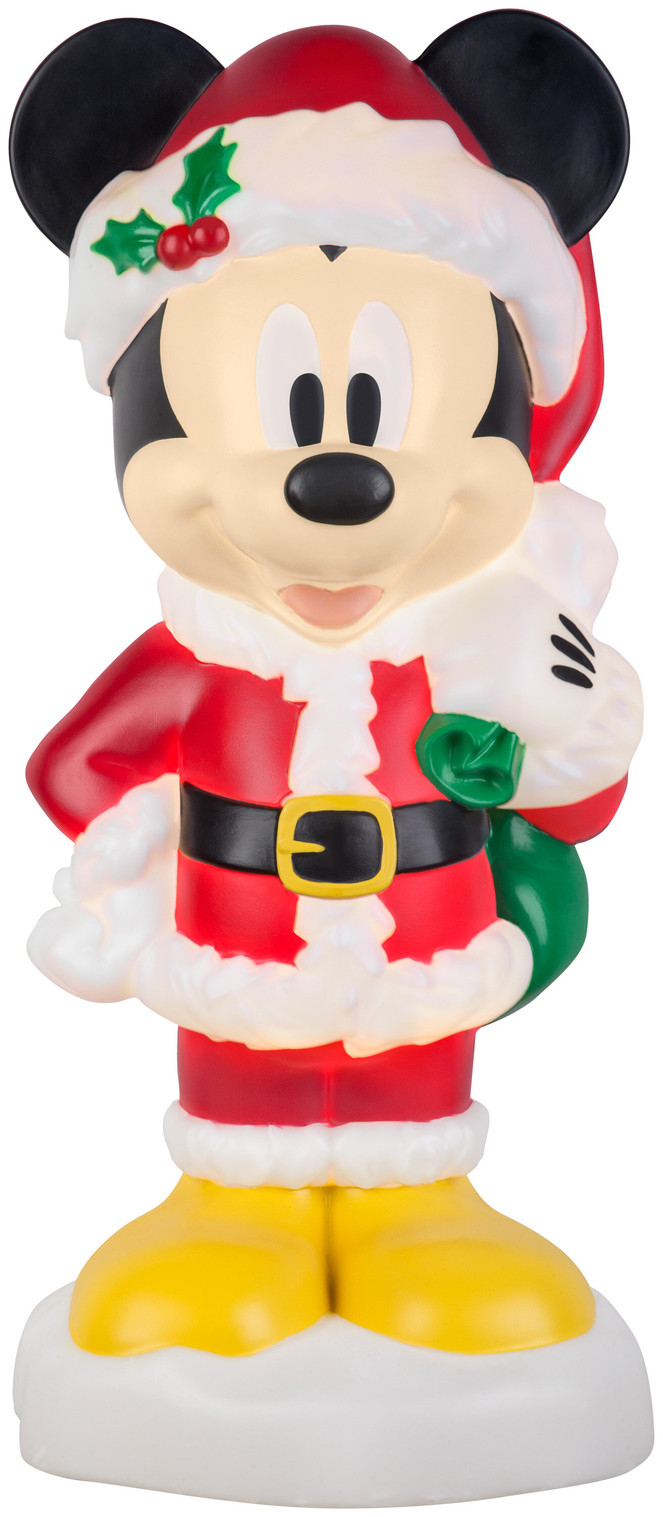 Lighted Blow Mold Mickey with Gifts Lighted Display