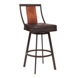 Clardy Bar & Counter Swivel Stool by World Menagerie
