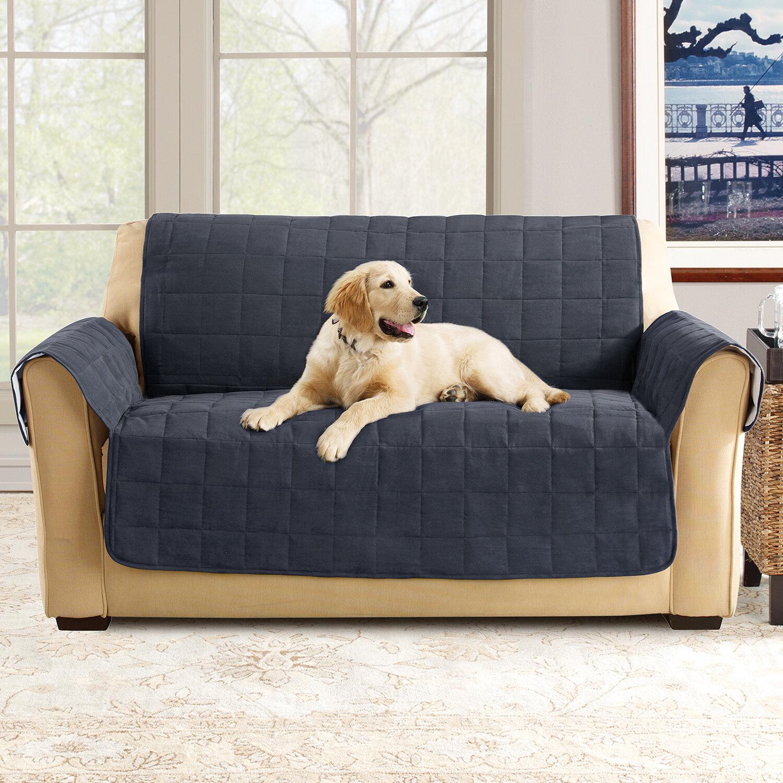 Stupendous Sure Fit Box Cushion Loveseat Slipcover Reviews Wayfair Unemploymentrelief Wooden Chair Designs For Living Room Unemploymentrelieforg