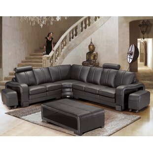 Brayden Studio Wamblee Sectional with Ottoman