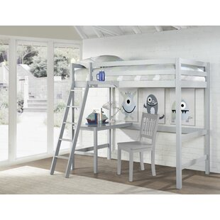 Best Choices Armanno Twin Loft Bed with Chair and Hanging Nightstand by Birch Lane™ Heritage Reviews (2019) & Buyer's Guide